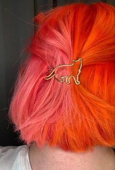 Pink & Orange Split Hair Color by Bri Original