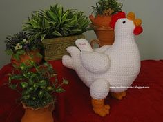 Rooster Amigurumi Free Pattern (Enlarge picture to Read)