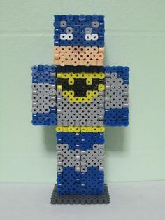 Batman Minecraft Skin 3D_Original_Perler Beads