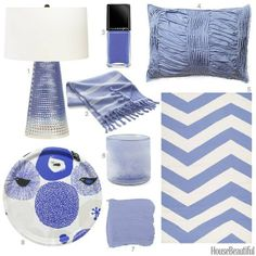"""""""Our color obsession of the week: Periwinkle! Show us how you use this color with Periwinkle Bedroom, Periwinkle Color, Purple, New Blue, Blue And White, Color Of The Week, Benjamin Moore Paint, Design Seeds, Home Decor Trends"""