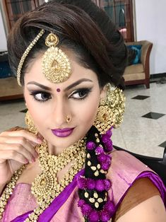 Indian Jewellery Design, Indian Jewelry, Jewelry Design, Beautiful Indian Brides, Beautiful Indian Actress, Indian Bridal Sarees, Indian Beauty Saree, Bridal Makeup, Wedding Makeup