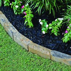 Increase the possibilities for creative expression in your backyard landscape with this Pavestone SplitRock Palomino Concrete Edger. Garden Edging, Garden Beds, Lawn And Garden, Lawn Edging, Paver Edging, Landscape Borders, Flower Landscape, Landscape Designs, Houses