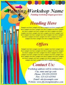 Political fundraiser event flyer templates for Painting and decorating advertising ideas