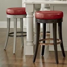 Julien Bar & Counter Stool | Grandin Road Counter Stools With Backs, Swivel Counter Stools, Counter Height Stools, Bar Counter, Island Stools, Stools For Kitchen Island, Kitchen Dining Sets, Kitchen Seating, Leather Club Chairs