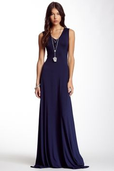 V-Neck Sleeveless Maxi Dress from HauteLook on Catalog Spree