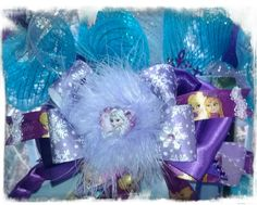 Frozen Hair Bow made by Norma's Unique Gift Baskets