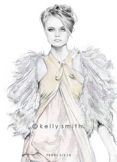 Kelly Smith Fashion Illustration #illustration #painting #draw #fashion