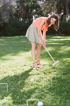 Fun lawn games that won't ruin your spring outfit. For a tea party!