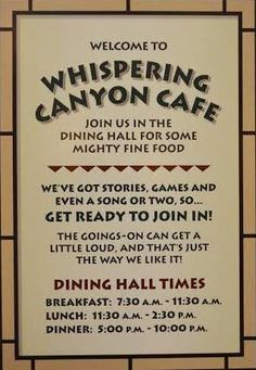 Disney's Whispering Canyon Cafe – Is It For You? – MOUSENAPPED!