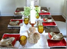 transition your summer decor to fall or autumn with these table decorations
