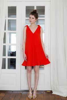 Robe Anna orange - L'atelier de Camille