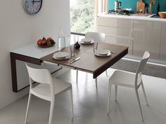 Folding Dining Table Wall Mounted White In London For 255 Flip Wall Mounted Table With Soft Close Spaceman. Wall Mounted Table Kitchen, Folding Kitchen Table, Wall Dining Table, Wall Mounted Folding Table, Foldable Dining Table, Dinning Table Design, Small Kitchen Tables, Small Dining, Dining Room