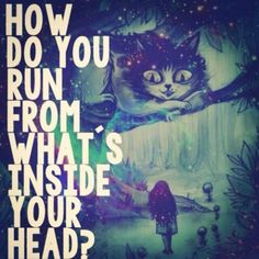 Great quote from Alice in Wonderland - something to maybe add to my ideas pile