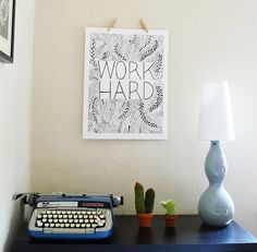 poster on wall by erindollar, via Flickr