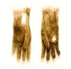Hairy gloves artist Adrienne Antonson