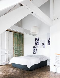 my scandinavian home: Bedroom in an apartment in the fabulous The Loft Hotel in Arnhem, Holland