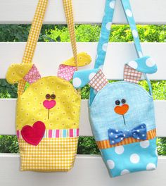 Easy Bunny Bags Printed Bag Pattern by TheRedBootQuiltCo on Etsy