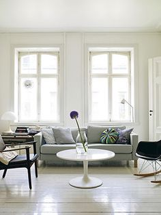 pale living room