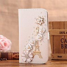 Diamond Iron Tower and Petal PU Leather Full Body Case with ... – AUD $ 21.44