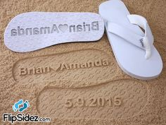 Custom Bridal Flip Flops for Beach Weddings -- Personalize With Your Own Design *Check size chart before ordering*