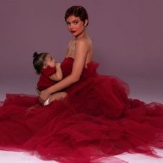 Kylie Jenner and baby Stormi Webster are adorable in new outtakes for Kylie Cosmetics Valentine's Day collection. In the photos, the mother-daughter pair