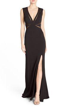 Abbie Vonn Illusion Jersey Gown, $248.00, Nordstrom