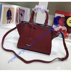 170cf7787c Fendi Mini 3Jours in Wine Red Leather Handbag. LuxTime DFO Handbags