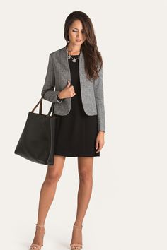 MacKenzie Houndstooth Blazer, Outfits for Work – Morning Lavender