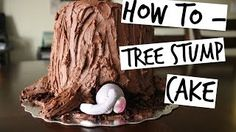 buttercream tree stump cake tutorial - YouTube