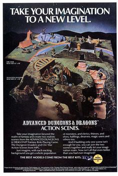 Dungeons and Dragons Action Scenes Ad in Magazines