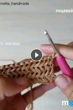 Repost Pontodecroche - Knittingtutorial - The Knitting Time - Diy Crafts - moonfer Crochet Videos, Knitting Videos, Knitting For Beginners, Knitting Tutorials, Love Knitting, Baby Knitting Patterns, Stitch Patterns, Basic Crochet Stitches, Knitting Stitches