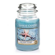Ocean Star : Large Jar Candle : Yankee Candle : We invite you to dive in with this scent of peaceful, sun-kissed waters laced with aloe, citrus, and lotus blossom.