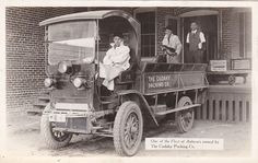 C 1915 RP Postcard Cudahy Packing Autocar Meat Delivery Truck California, LA/SF