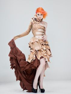 Photo: Allan Amato  Dress: Mother of London  Hair: Noogie Style  MUA: Anthony Nguyen  Model: Ulorin Vex