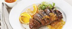 Two fantastic Dinner party Recipes by Bryan Thom, Head Chef at the Marie Curie. Fanned avocado and orange salad and Steak Diane, delicious! Retro Recipes, Ethnic Recipes, Dinner Party Recipes, Orange Salad, Steak, Avocado, Pork, Vegetarian, Beef