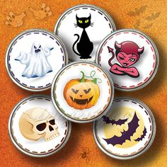 Happy Halloween symbols Digital Collage by images4you on Etsy, $3.95