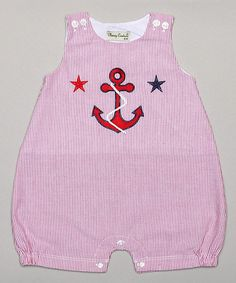 Love this Red Plaid Anchor Bubble Romper - Infant by Classy Couture on #zulily! #zulilyfinds