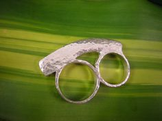Cast Sterling Silver Double Knuckle Duster Ring by CDSOdesigns, $210.00