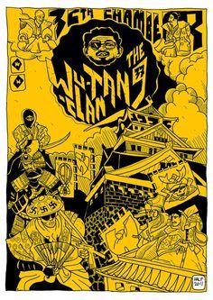 The Wutang Clan - Chamber Arte Hip Hop, Hip Hop Art, Wutang, Wu Tang Clan Logo, Illustrations Posters, Art Posters, Art Gallery, Art Prints, Artwork