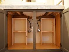 DIY Network shows you how to create custom below-the-sink storage for easier…