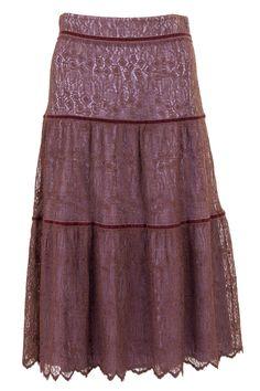 Lace + Velvet Skirt