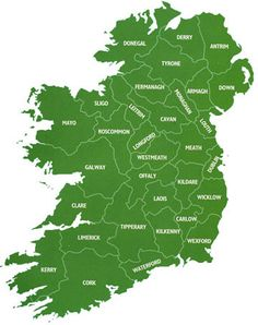Ireland: County Map. Flight from Kerry INT airport to Dublin (maximum time in advance) 27 euro.