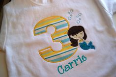 Mermaid Birthday Party Personalized shirt or by grammeshouse, $25.00