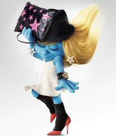 Smurfette In the City Gift Set Smurfs Movie Adventure Theme Pack Series #2