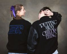 Set of two (2) embroidered letterman jackets