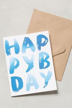 Thought it said 'Happy pyb day' Ways To Say Hello, Hello My Love, Design Crafts, Diy Crafts, Do It Yourself Crafts, Diy Christmas Cards, Paper Goods, Diy Art, Hand Lettering