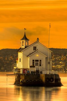 Dyna Lighthouse in Oslo Harbor, Norway .Stay cheap and comfortable in Oslo: www.airbnb.com/rooms/1036219?guests=2&s=ja99 and https://www.airbnb.com/rooms/7828765