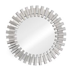 Interlocking design gives the Sundial Mirror texture. Like cogs in a grand machine, this mirror helps your daily life run better. Hang it by the door for last minute lip gloss checks.
