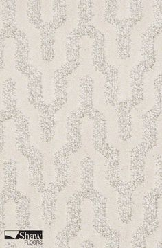Brushstroke in Snowfall is a part of Shaw's Caress Collection. This white and grey patterned carpet delivers a beautiful, textured look that makes a statement in bedrooms, living rooms or dining rooms. It is protected from everyday soiling and staining with Shaw's innovative R2X® technology.