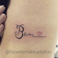 """Studio Ticiana Soares: Tatuagem da cliente @moninebem em homenagem ao seu filho carinhosamente chamado """"ben"""". #boanoite ..."""
